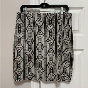 Pattern skirt, US L, fits like 8 on hips/10 waist